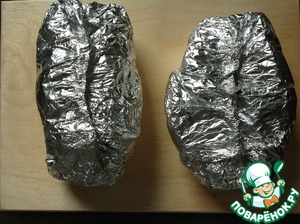 Tightly seal foil.  Place the foil packets on a well-heated grill and cook until tender, about 15-20 minutes.  Can be baked in a preheated 220 degree oven for 30-40 minutes.