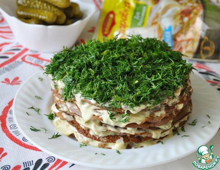 Рецепт: Печёночный торт Магги