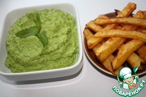 Minty mashed green peas