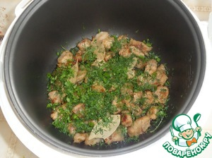 Add fresh herbs and Bay leaf.