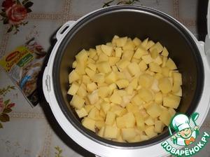 Add the sliced potatoes.