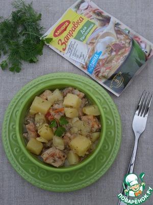 Serve, adding parsley.