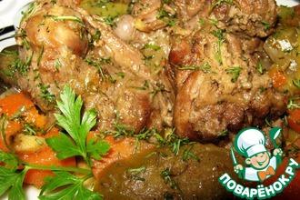 Рецепт: Тушеный байбак с овощами