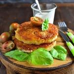 Картофельные бургеры с мясной начинкой