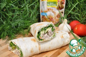 When serving, cut loaf in half or cut into rolls with a length of 5 cm.  Bon appetit!