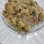 Курица с кус-кусом и оливками