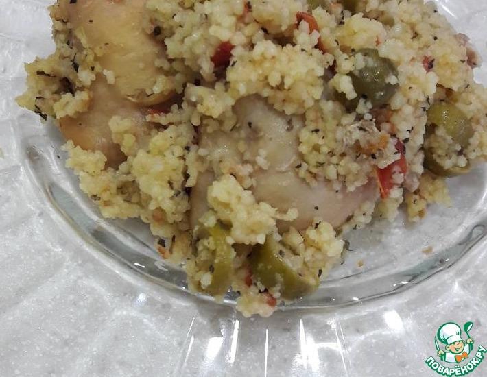 Рецепт: Курица с кус-кусом и оливками