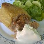 Перец, фаршированный картофелем и мясным фаршем