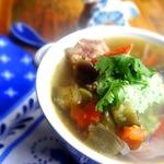 Суп с говядиной и овощами