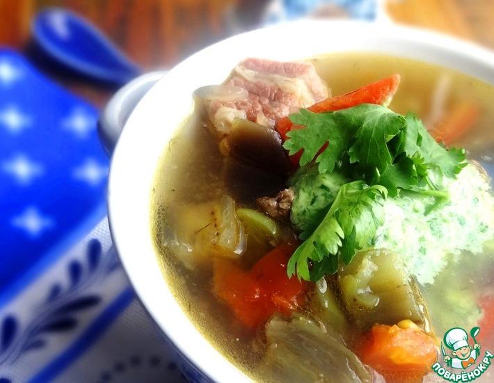 Рецепт: Суп с говядиной и овощами