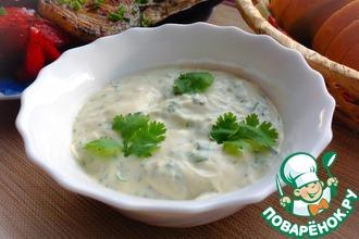 Рецепт: Соус с зеленью и киви