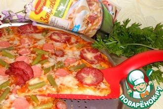 Рецепт: Пицца с соусом Итальяно