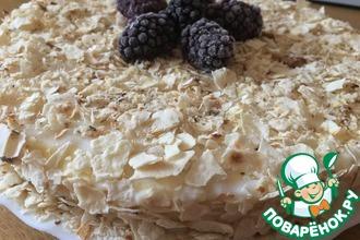 Рецепт: Ленивый низкокалорийный торт Наполеон