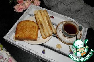 Рецепт: Бутерброд с жареным луком и сыром