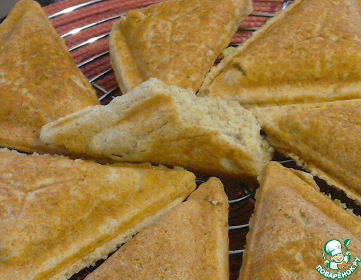 Рецепт: Бездрожжевой хлеб в сэндвичнице