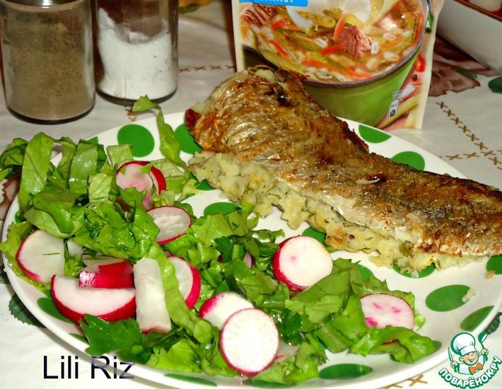Рецепт: Рыба с картофельной начинкой
