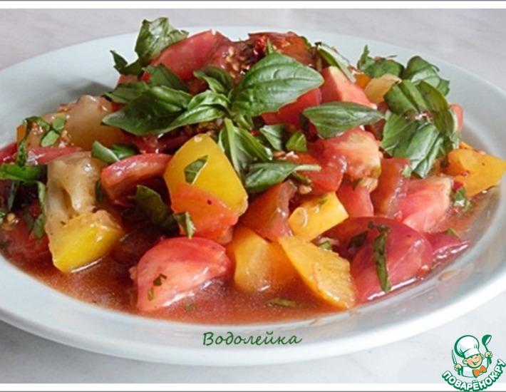 Рецепт: Салат из помидоров от Дж. Оливера