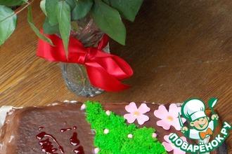 Рецепт: Бисквитный мох для декора