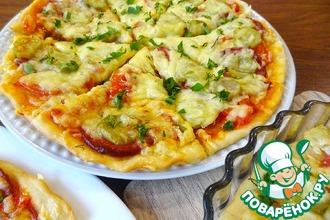 Рецепт: Экономное тесто для пиццы Молния