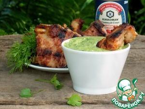 Зеленый луковый соус