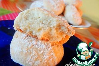 Рецепт: Нежное песочное печенье с добавлением дрожжей