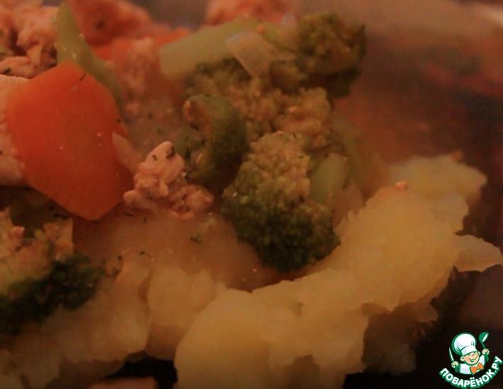 Рецепт: Тушеная курица с брокколи
