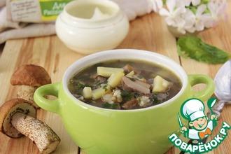 Рецепт: Картофельный суп с грибами и крапивой