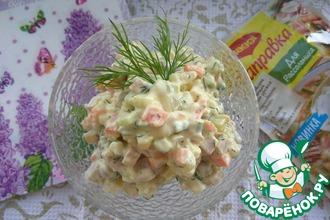 Рецепт: Салат Оливье с рассольной заправкой