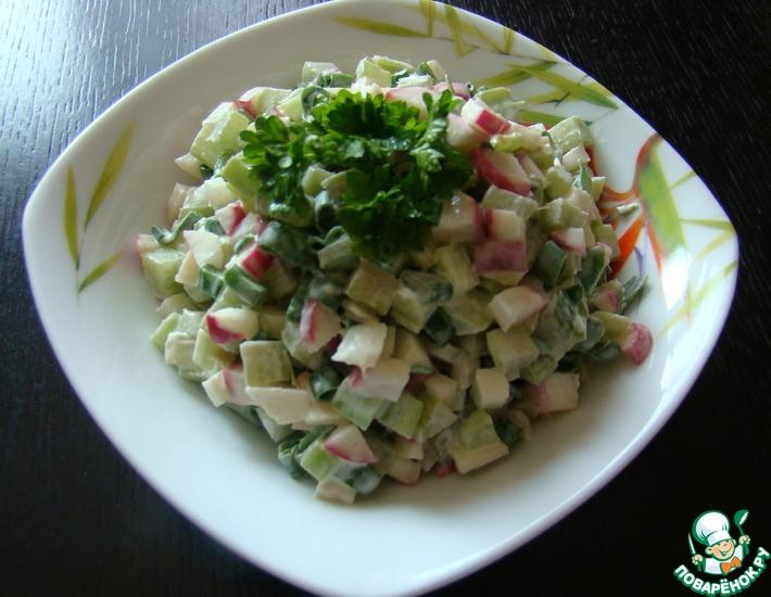 Рецепт: Салат из ревеня