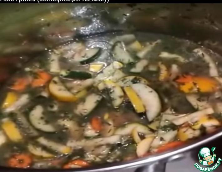 Рецепт: Консервированные кабачки Как грибы