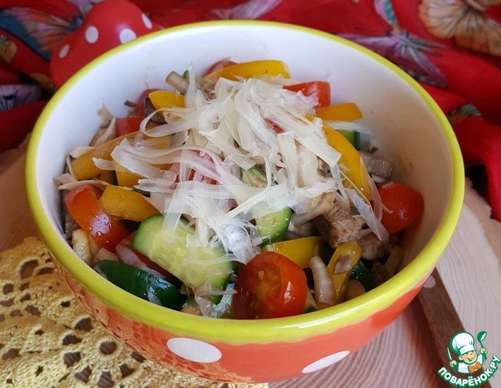 Рецепт: Салат мясной Летний