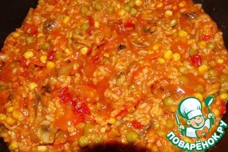 Рецепт: Овощи с рисом