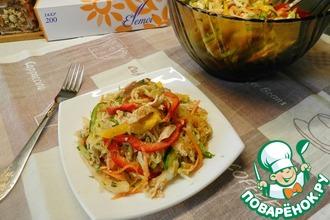 Рецепт: Корейский салат с курицей и овощами