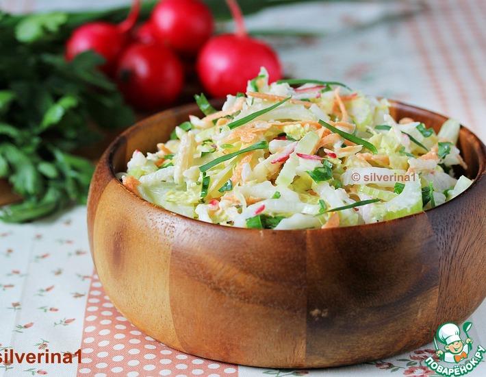 Рецепт: Полезный салат Коулсло с горчичной заправкой