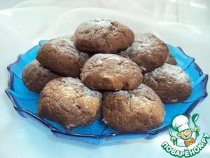 Готовое печенье посыпать сахарной пудрой или покрыть глазурью.
