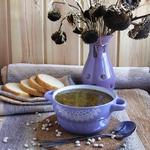 Луковый суп с белой фасолью