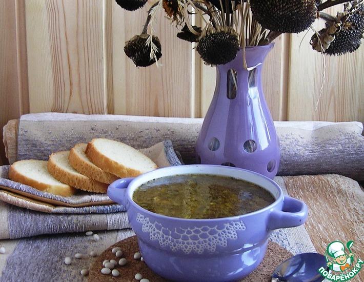 Рецепт: Луковый суп с белой фасолью