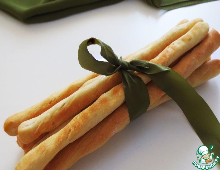 Рецепт: Хлебные палочки Гриссини