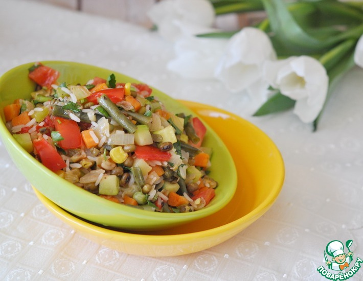Рецепт: Салат А ля минестроне