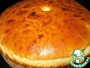 Bake at 170-180 degrees for about 60 minutes, depending on Your oven. Cooking time is given without time for dough rise.