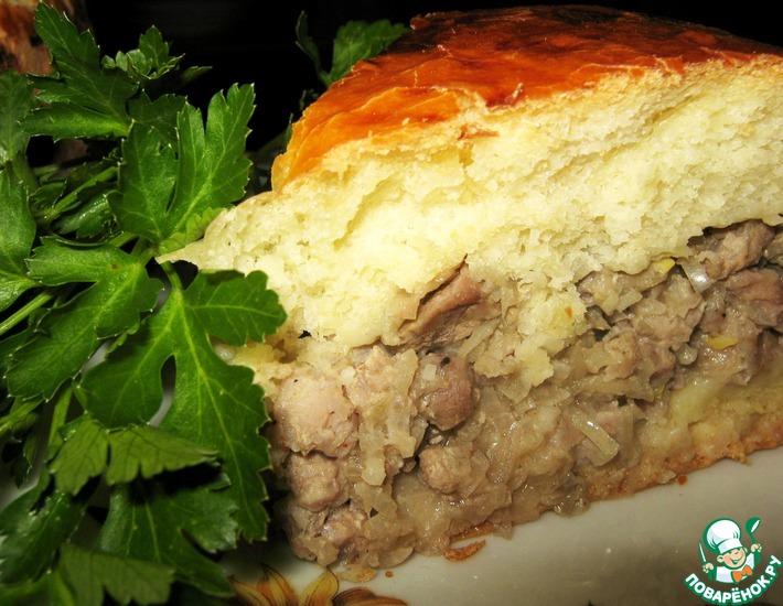 Рецепт: Пирог Мужской с рубленым мясом