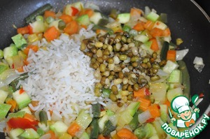 Add the prepared (from a bag) rice and beans. The amount of rice and beans at your discretion.