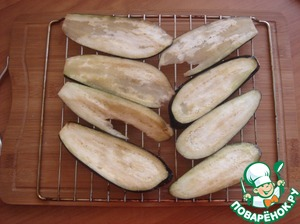 Spread on the bars and put in preheated oven at t-180 minutes 10. Are made very quickly because the thin slices.