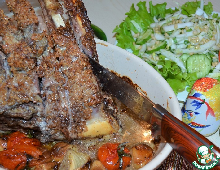 Рецепт: Баранина под гречневой корочкой