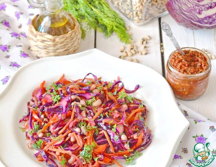 Рецепт: Холодный овощной салат горячим способом