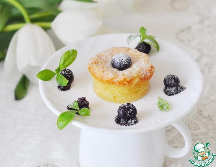 Рецепт: Пирожное Муалё из белого шоколада