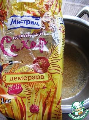 In a saucepan pour the brown sugar Demerara TM