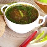 Постный овощной суп с нутом