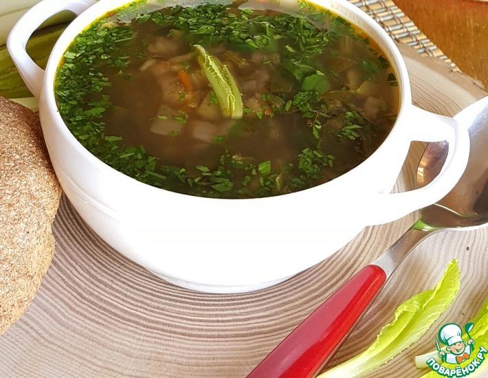 Рецепт: Постный овощной суп с нутом