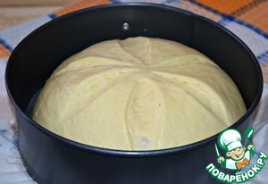 In half an hour.  Bake bread in preheated to 180* oven for 35-40 minutes. (focus on your oven)